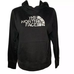 The North Face Hoodie Logo Floral Black White